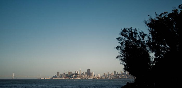 La skyline de SF et le Bay Bridge